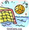 water polo net and ball Vector Clip Art picture