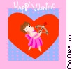 Vector Clip Art image  of a valentines day card