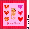 valentines day card Vector Clip Art graphic