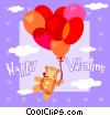 Vector Clip Art graphic  of a Valentines day card