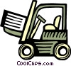 Fork Lifts Vector Clipart graphic