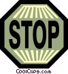 Vector Clip Art image  of a Stop Sign