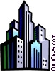 Vector Clipart picture  of a Cityscapes