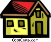 Urban Housing Vector Clipart graphic