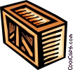 Vector Clip Art picture  of a Crates
