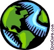 Vector Clipart image  of a Planet Earth