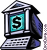 Vector Clip Art graphic  of a Online banking symbol