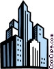Vector Clip Art picture  of a Cityscapes