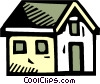 Vector Clip Art picture  of a Urban Housing