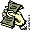 Vector Clip Art picture  of a Dollars