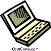 Vector Clip Art picture  of a Laptops and Notebook Computers