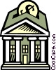 Vector Clip Art image  of a Banks
