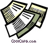 Vector Clip Art picture  of a Documents