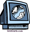 Vector Clip Art image  of a Monitors