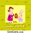 Vector Clip Art image  of a Easter Greetings