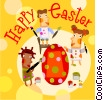 Vector Clip Art graphic  of a Easter Greetings