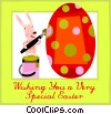 Vector Clipart picture  of a Easter Greetings