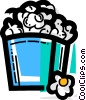 Vector Clip Art graphic  of a Popcorn