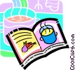 Vector Clipart illustration  of a cook book