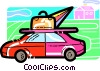Vector Clipart picture  of a Family Cars
