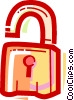 Keys and Locks Vector Clipart illustration