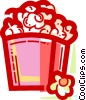 Popcorn Vector Clipart illustration