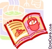 Vector Clipart image  of a cook book