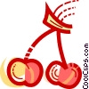Vector Clip Art graphic  of a Cherries