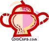 Vector Clip Art graphic  of a Teapots