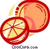 Vector Clipart picture  of a Sliced oranges