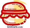 Vector Clip Art graphic  of a Hamburgers