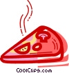 Vector Clipart image  of a Pizza