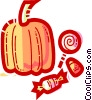 Vector Clipart illustration  of a Pumpkins