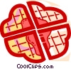 Waffles Vector Clipart illustration