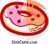 Vector Clip Art graphic  of a Donuts