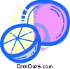 Vector Clip Art picture  of a Oranges