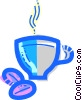Cups of Coffee Vector Clipart image