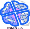 Vector Clipart picture  of a Waffles