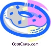 Vector Clip Art image  of a Donuts