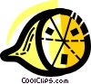 Vector Clip Art graphic  of a Sliced lemon