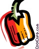 Vector Clip Art graphic  of a Peppers