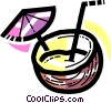 Cocktails and Mixed Drinks Vector Clip Art image