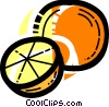Vector Clip Art graphic  of a Sliced orange