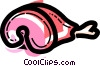 Vector Clip Art graphic  of a Pork