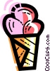 Vector Clipart graphic  of a Ice cream cone
