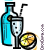 Vector Clipart image  of a Cocktails and Mixed Drinks
