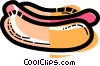 Hot Dogs Vector Clipart picture