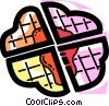 Waffles Vector Clip Art graphic