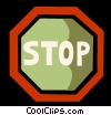 Stop Sign Vector Clip Art picture