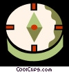 Vector Clip Art picture  of a Compass